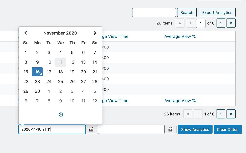 analytics pick date